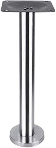 hsj Patas de mesa de acero inoxidable, patas de mesa de comedor, patas de mesa chapadas en oro, soporte de columna, soporte de hierro fundido (color: plata)