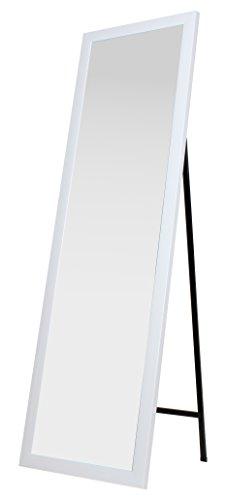 King Home S1710537 Specchio da Pavimento con Cornice, Bianco, 40X150H