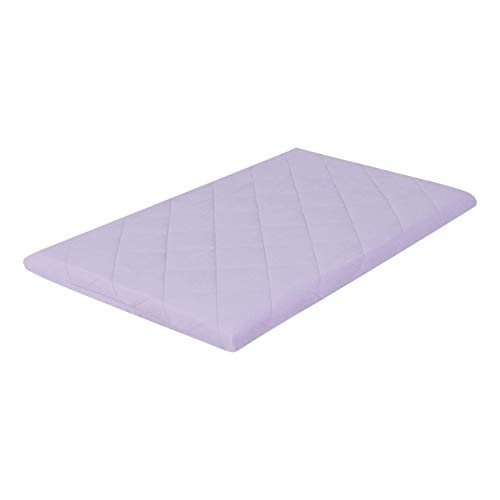 EVERYDAY KIDS Quilted Pack n Play Playard Sheet, Breathable and Hypoallergenic Thick Playpen Sheet, Fits Most Playard - Purple Fitted Sheet