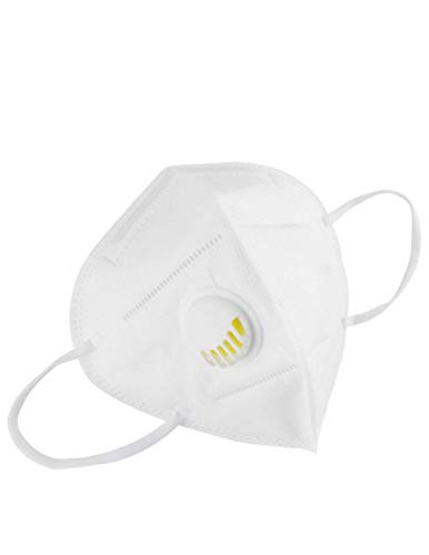 10 pieces | Disposable Face Masks with Breathing Valve | Mouth and Nose Safety Protection | 5-Layer Filter Barrier | Manufactured for and Sold Exclusively by DecoPro