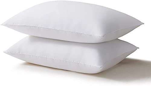 Acanva Bed Pillows for Sleeping 2 Pack, Alternative Microfiber Filled, Natural Cover Skin-Friendly,...