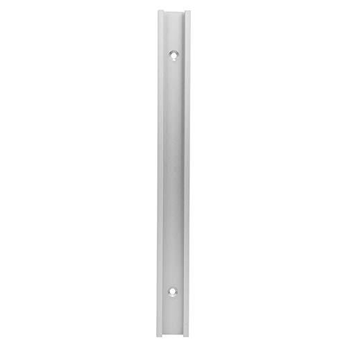 Losa deslizante de riel en T, plantilla profesional de riel de inglete con ranura en T, aleación de aluminio(0.3m chute, with stainless steel screws)