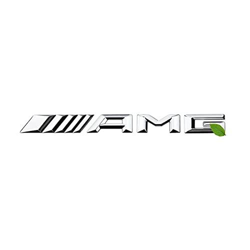 JAJU 3D Sport AMG Logo Decalcomania, ABS 3D AMG Sport Decalcomania della Decorazione del Distintivo, per Tutti B-Enz A B C E S G CL SL CLK CLS SLC SLK SLR GLA GLC CL ML Classe GLK, Argento Lucido