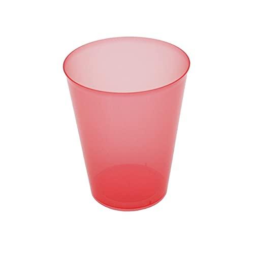 8around 25 Vasos plástico irrompibles flexible reutilizable libre de BPA de 470ml, rojos translucidos, especial coctel mojito cubata agua sidra cerveza para fiestas camping playa picnic barcos hogar