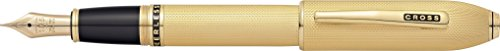 クロス万年筆M中字ピアレス125AT0706-4M23金ヘビーゴールドプレート