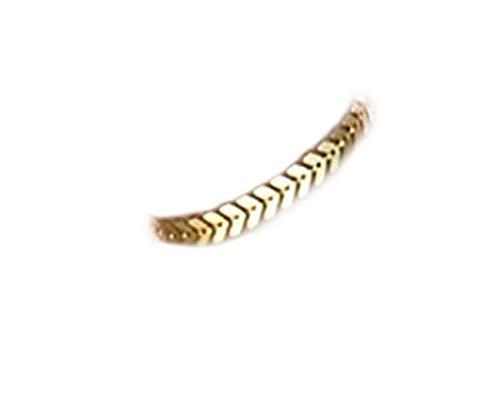 No see - Pulsera de oro con diseño de flecha, color turquesa, pulsera de oro, pulsera geométrica