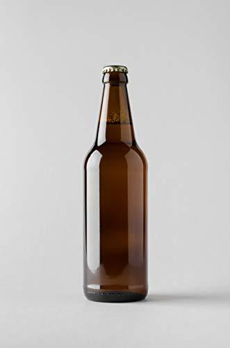12 x 500 ml di sidro di vetro rotondo, bottiglie di birra ambra