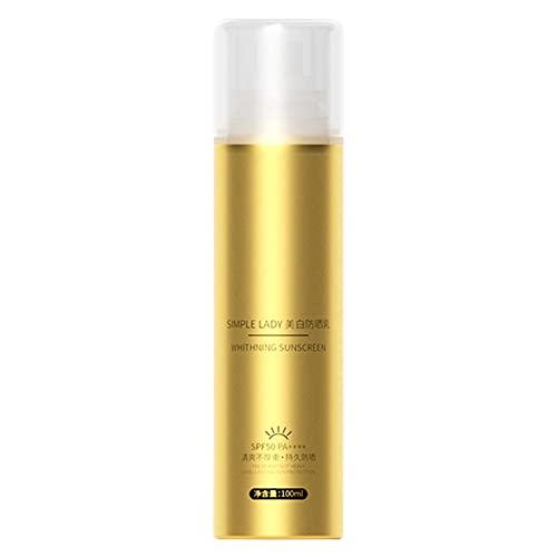 Spray protector solar de 00 ml, protección UVA y UVB de larga duración hasta 5 horas altamente resistente al agua