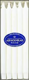 ASP 10 hochwertige dänische Stearin Tafelkerzen, 10er Set, 30 x 2,2 cm, Weiss