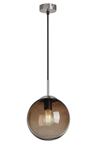 Briloner Leuchten - Lámpara colgante con cristal redondo, metal, 40 W, color marrón.