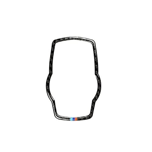 YFQH Cubierta de interruptor de botón de control de fibra de carbono para coche BMW 3 4 Series F30 F32 2013 2014 2015 2016 2017 2018 (nombre del color: con color 1)