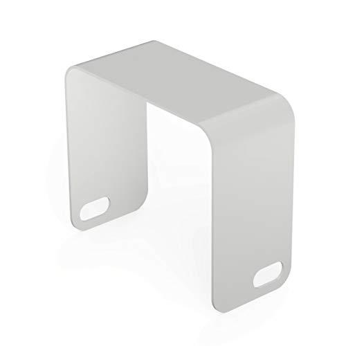 TEBTON® UNIOTTO1 – Beistell-Tisch aus Metall, Made in Berlin, Hocker im zeitlosen Design, Metall-Tisch in Weiß, 52 x 47 x 25 cm (LxHxT)