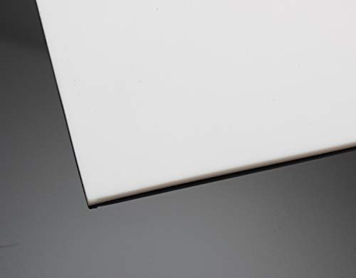 PTFE Teflon Platte 200x200mm Weiß in 6 Stärken von 0,5-5mm auswählbar (Materialstärke 3,0mm)