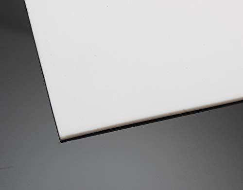 PTFE Teflon Platte 200x200mm Weiß in 6 Stärken von 0,5-5mm auswählbar (Materialstärke 5,0mm)