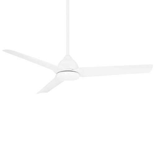 Mocha Indoor/Outdoor 3-Blade Smart Compatible Ceiling Fan 54in Matte White with Remote Control and Wall Cradle. Works with iOS/Android, Alexa, Google Assistant, Samsung SmartThings, and Ecobee. -  WAC Lighting, F-001-MW