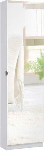 Eternity-Möbel24 Schuhschrank Schuhkipper - Choco - Schuhregal in 50 x 180 x 20 cm Weiß Schrank Spiegel