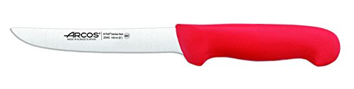 Arcos Serie 2900, Cuchillo Deshuesador, Hoja de Acero Inoxidable Nitrum de 160 mm, Mango inyectado en Polipropileno Color Rojo