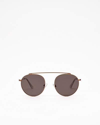 Gafas de sol modelo de aviador Hills Gold para hombre y mujer.