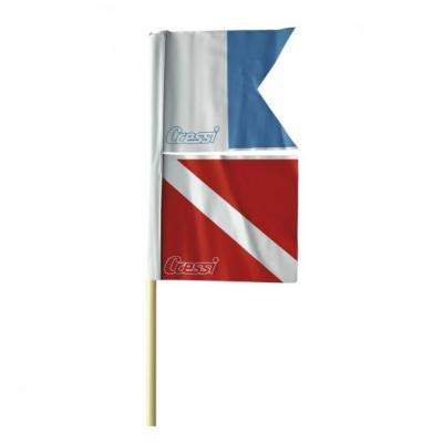 CRESSI - ETA 600000/391 : Banderin Bandera de Buceo con mastil para boya Torpedo
