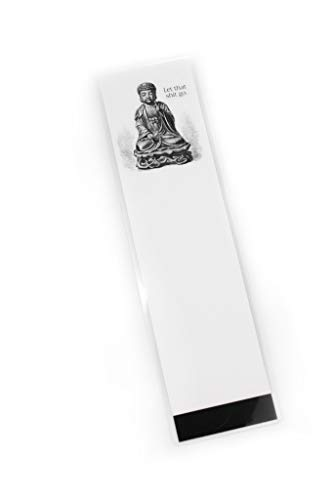 Printed Laminated Bookmark - Buddha - Let That Shit GO