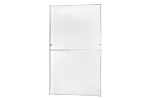 empasa Insektenschutz Fliegengitter Fenster Alurahmen MASTER SLIM XL Selbstbausatz in weiß, braun oder anthrazit 130 x 220 cm