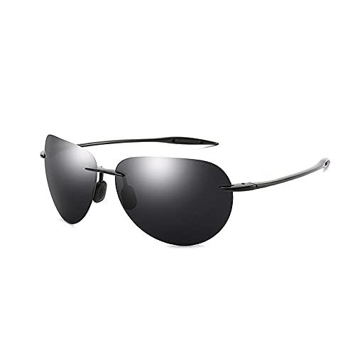 N\A Gafas de sol Ultraligeras Sin bordes Gafas de sol Hombres Colores locos Espejo Conducción Gafas de sol Protección masculina