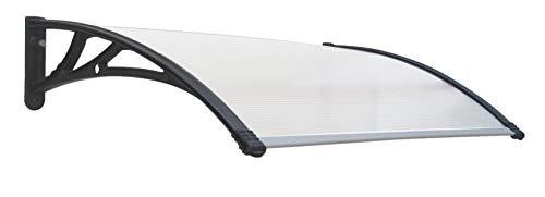 SmartSun Marquesina Easy Black 120x80cm. Grosor 5,2mm extra resistente. Tejadillo puerta protección