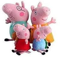 EPICCAKE Pig Plushies Peppa - Pig Plush Peppa - Pig Stuffed Animal Peppa - Pig Peppa George Peppa Daddy Mommy Peppa Plush Toy Collection - 12 Inch Daddy, Mummy, 8 inch George Peppa