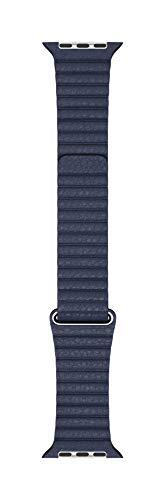 Apple Watch Bracelet en Cuir Bleu Profond (44mm) - Medium