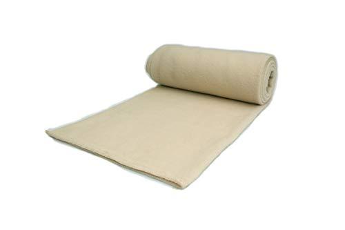 Polar tela de lana, prendas de punto, paño 300 g/m² - Disponible en una variedad de colores - 50 x 160 cm (Beige Claro)