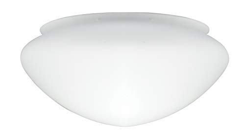 Westinghouse Lighting Paralume Opal Frosted Mushroom Shade, Bianco