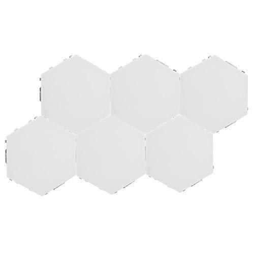 Fditt DIY Hexagonal LED Bombillas de luz Nocturna Sensibles al Tacto Luces modulares Decoración Lámpara de Montaje en Pared Kit de Luces Creativas cuánticas para dormitorios (EU-6 Luces)