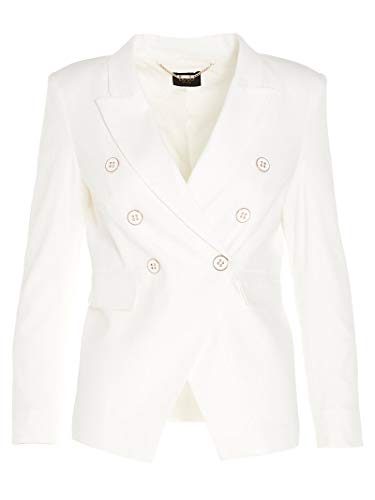 Liu Jo Luxury Fashion Damen CA0089T2391X0256 Weiss Baumwolle Blazer | Frühling Sommer 20