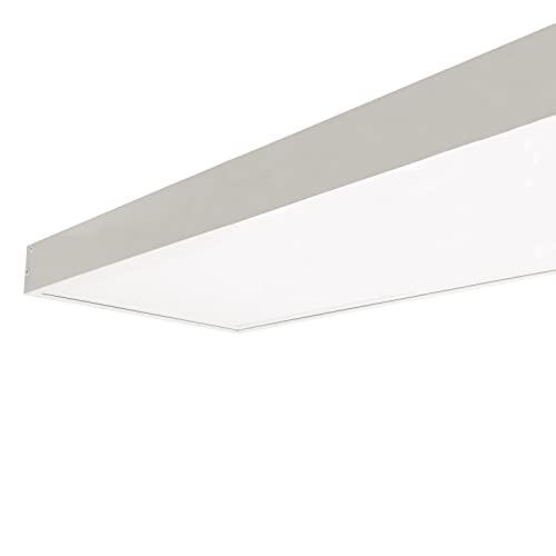 LEDKIA LIGHTING Pannello LED 120x30cm 40W 4000lm LIFUD + Kit di Superficie Bianco Caldo 3000K - 3500K