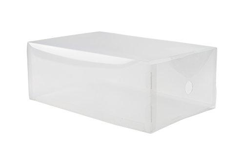 Compactor Home RAN5964 Boîte Tiroir à Chaussures, Polypropylène, Transparent, 34 x 21 x 13 cm