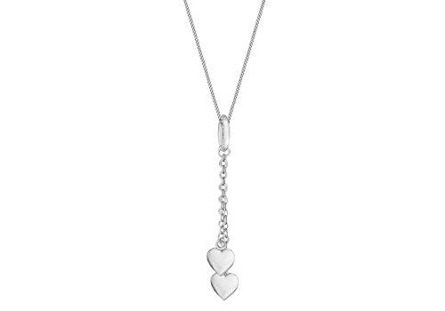 Tuscany Silver Rolokette Mit Anhänger Sterling Silber Doppelt Herz 46cm/18zoll