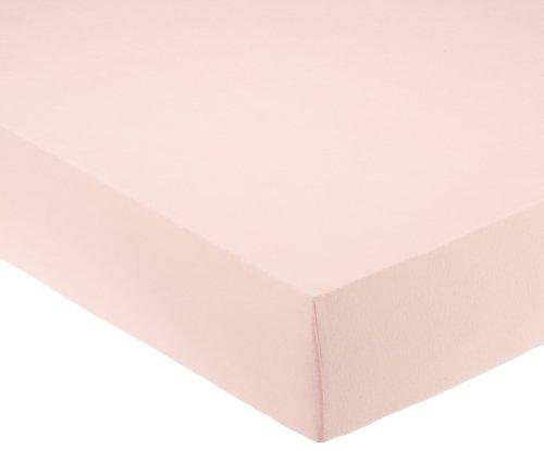 Pinolino 540002-7 - Spannbetttuch für Kinderbetten, Jersey, rosa