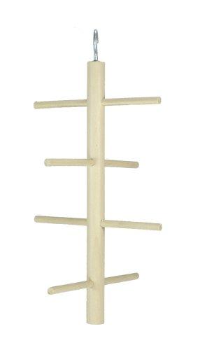 Elmato 10098 Kletterbaum für Sittiche, 4 Sprossig, 2 Stück
