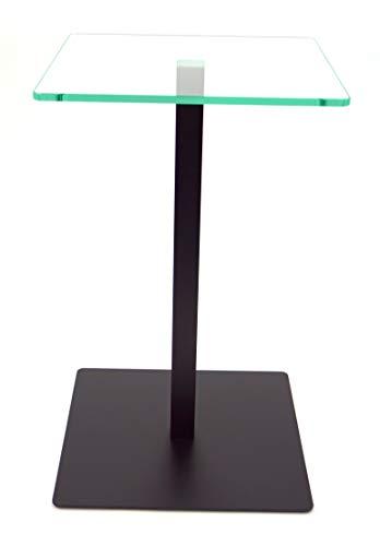 freeroom24 Beistelltisch, Tisch, Couchtisch Johannes in Schwarz matt, 30 x 30 x 70cm