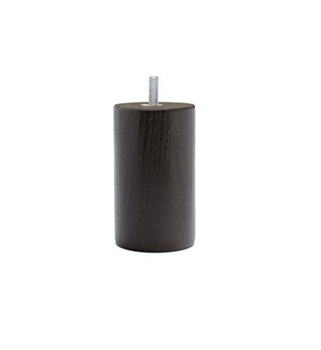 La Fabbrica di Piedi am20170131Gioco di 4Piedi di Letto cilindri Legno Ombra wengé 10x 6x 6cm