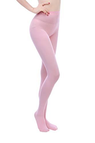 EVERSWE 80D Microfaser Damen Strumpfhose (L/XL, Pink)