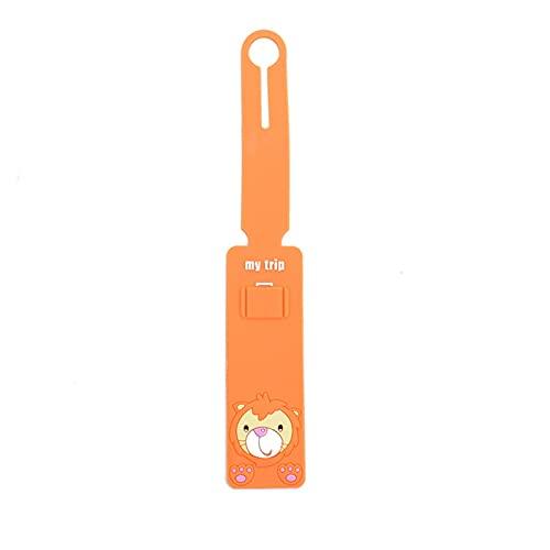 TTCI-RR Etiquetas Equipaje, Accesorios de Viaje Dibujos Animados Animal Silicona Etiqueta Etiqueta Etiqueta Equipaje Maleta Etiquetas Tags Portátiles (Color : Lion)