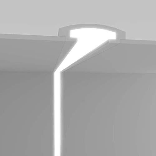 EL114 - Taglio di luce indiretta led a soffitto da incasso nel cartongesso