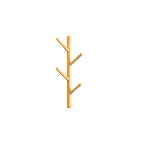 POETRY Gancho de Pared Decorativo Blanco para Ropa, Colgante de Rama de árbol Vertical de Madera para Colgar en la Pared, para Colgar Abrigos, Bufandas, monederos y más (Color: Amarillo)