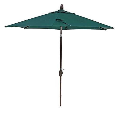 ZHIFENGLIU Sombrilla Exterior, 275cm Varilla Aluminio áNgulo Regulable Parasol Jardin con Manivela, Patio Parasol para JardíN Terraza Playa Café,Verde