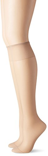 Silk Reflections Women's Knee High Reinforce Toe 2 Pack