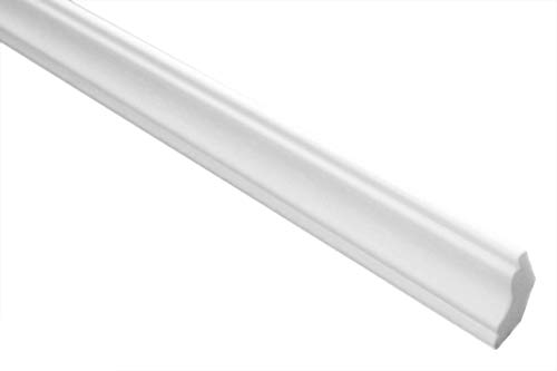 Marbet Deckenleisten aus Styropor XPS - Hochwertige Stuckleisten leicht & robust im modernen Design - (20 Meter Sparpaket E-23-22x22mm) Wandleiste