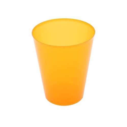8around 25 Vasos plástico irrompibles flexible reutilizable libre de BPA de 470ml, naranjas translucidos, especial coctel mojito cubata agua sidra para fiestas camping playa picnic barcos hogar
