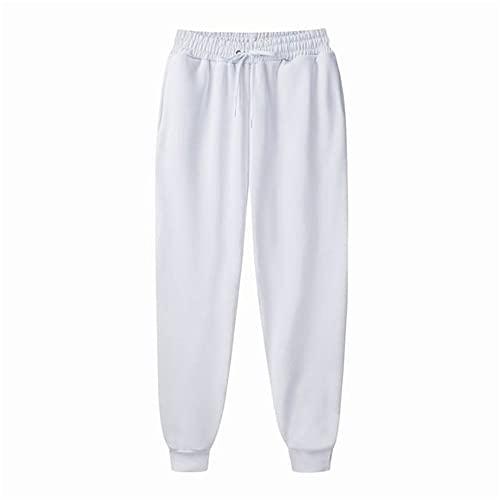 N\P Men's Jogger Casual Pants Fitness Men's Sportswear Sportswear Bottoms Tight White