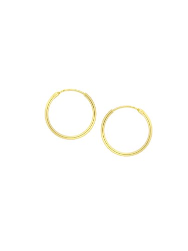 MyGold Creolen Ohrringe Gelbgold 585 Gold (14 Karat) Mini Ø 13mm Goldohrringe Goldcreolen Sunset shiny C-04109-G401-13mm/1.3mm